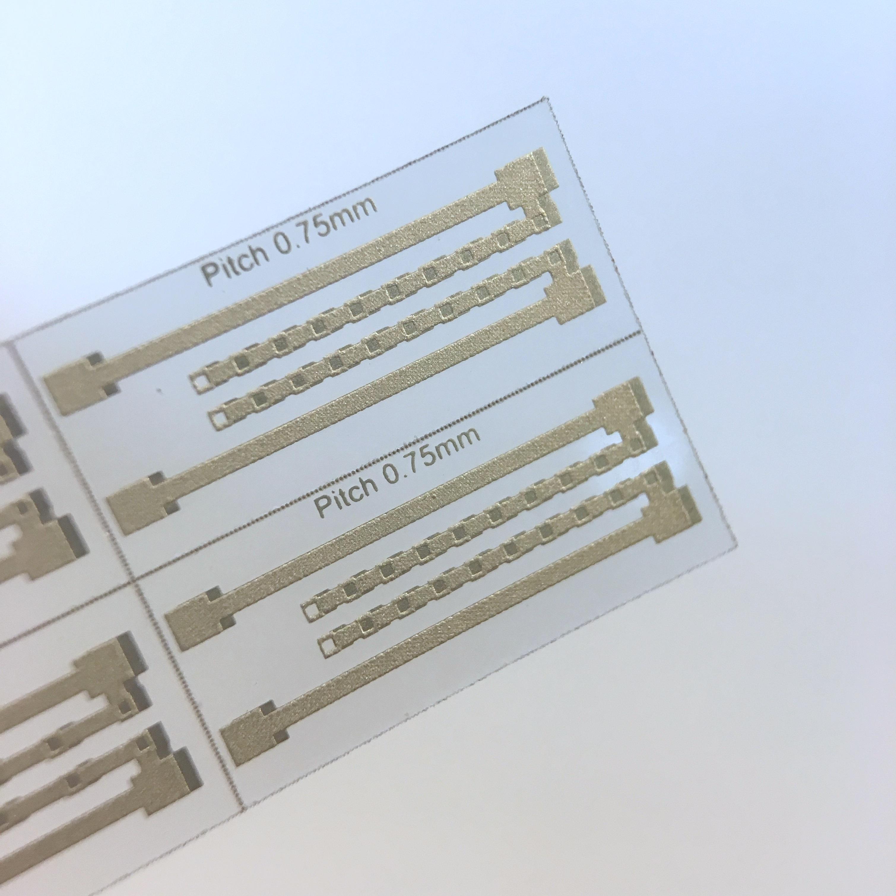 Transparent PCB in alumina