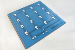 Ceramic PCB - alumina with blue encapsulation