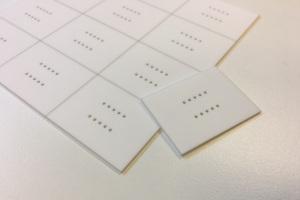 Alumina heat plate with holes