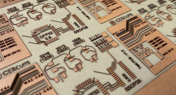Naked Alumina pcb - Prototype - Cercuits