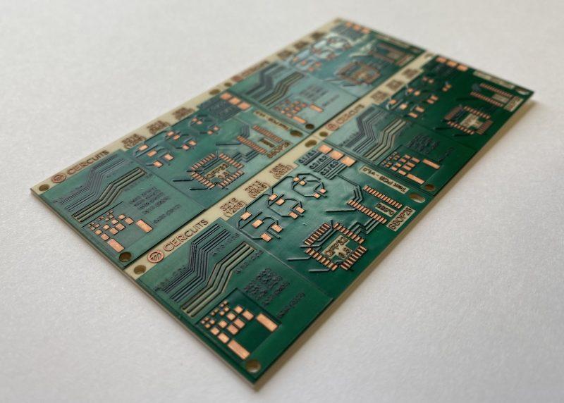 Alumina PCB with green soldermask - Cercuits Prototype Alumina PCB